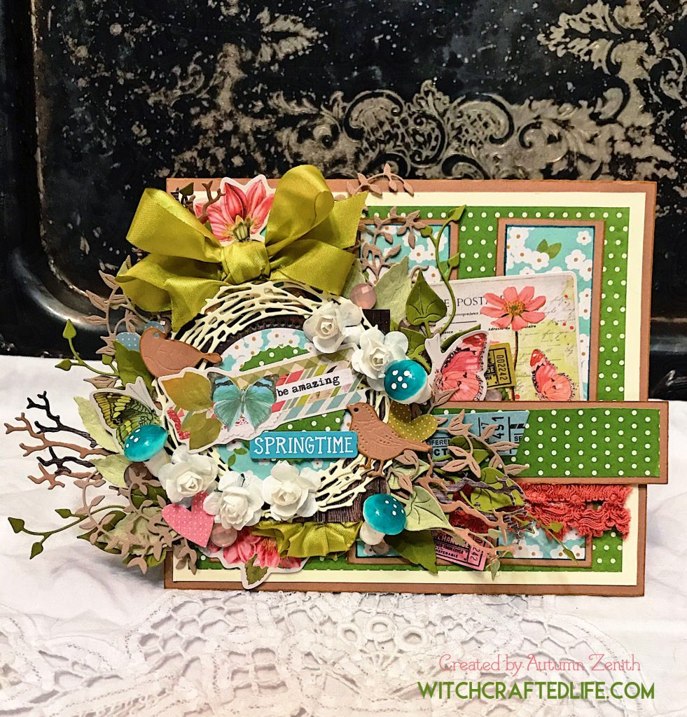 Shabby chic springtime bird's nest card by Autumn Zenith from WitchcraftedLife.com