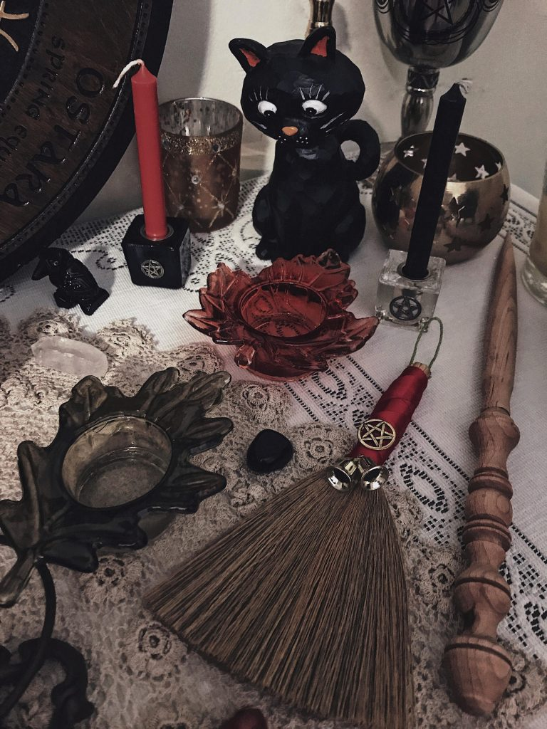 Autumn Zenith's Samhain and Halloween Pagan altar - 31 Ways to Celebrate Halloween All Year Long
