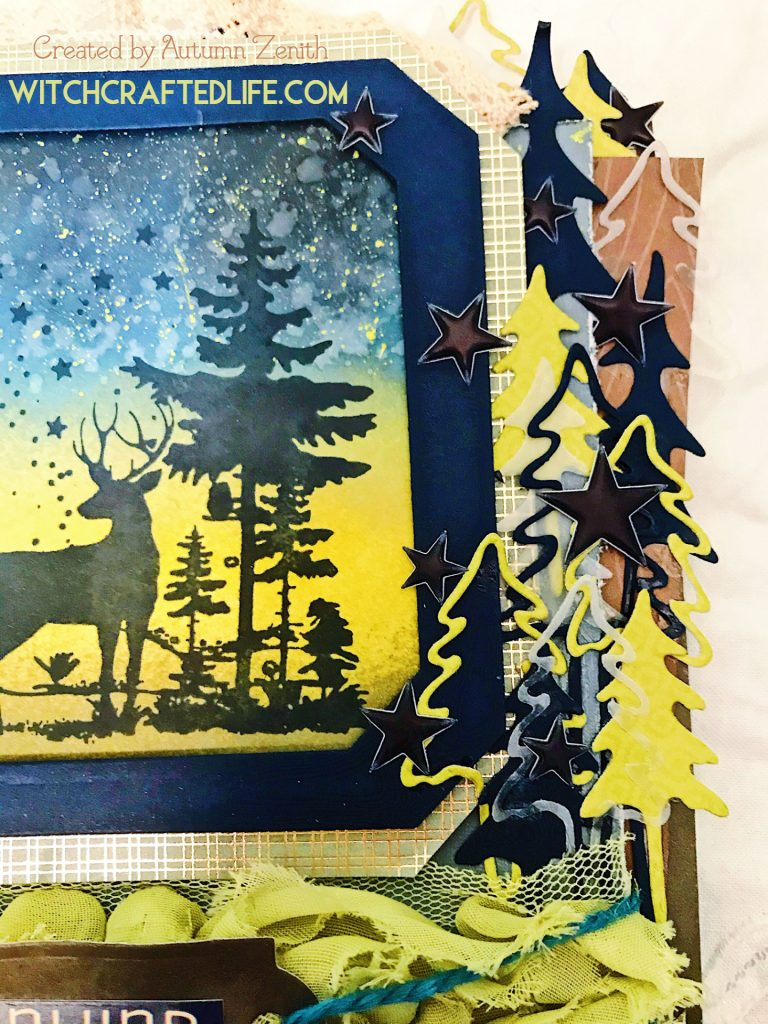 Handmade ink blended woodland deer summer card