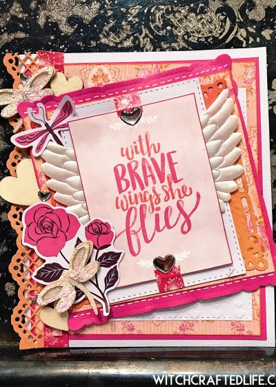 With Brave Wings She Flies encouragement card