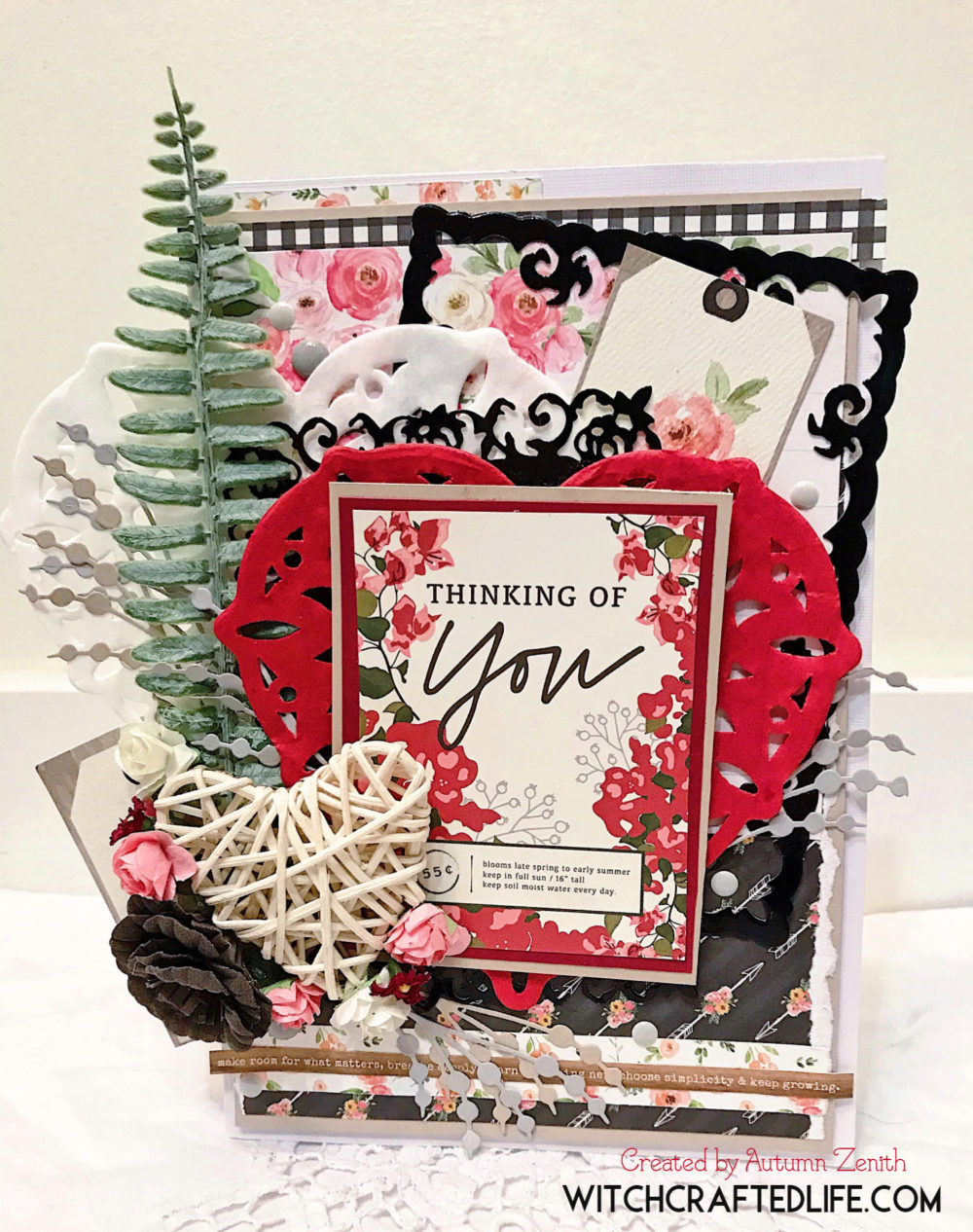 Modern Shabby Chic Thinking of You Card starring the Spring Market Collection from Carta Bella
