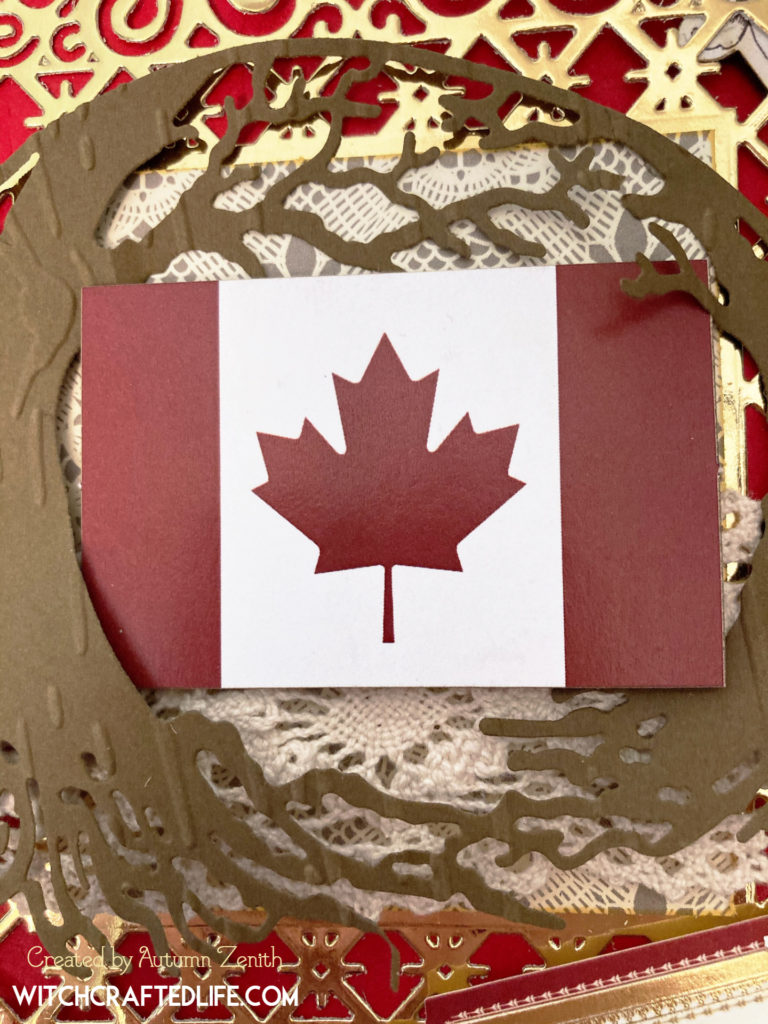 Elegant Shabby Chic Canada Day Card created by Autumn Zenith