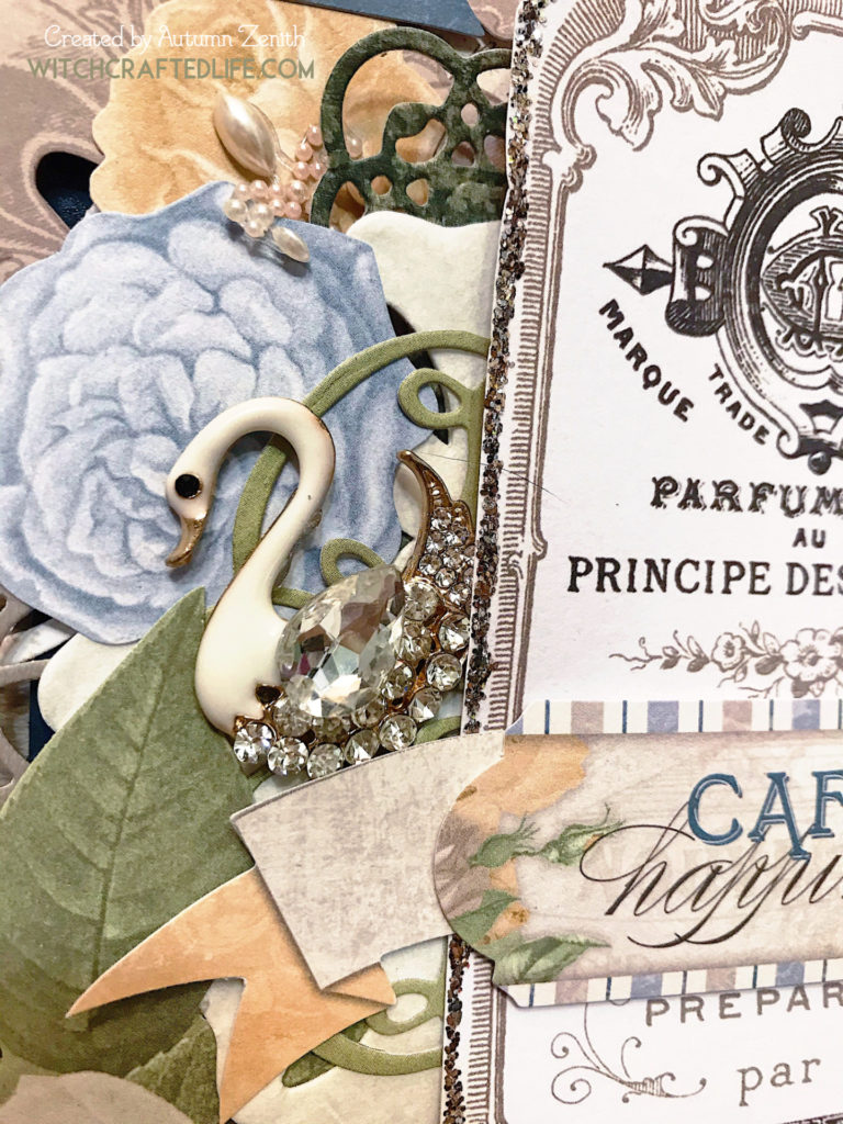 Cafe Happiness shabby chic thinking of you card featuring the Boulevard Collection from Bo Bunny