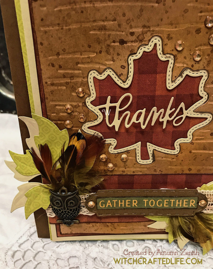 Rustic Woodland Thanks Maple Leaf Thanksgiving Card