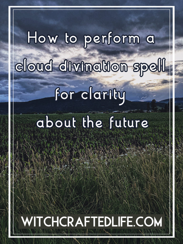 Cloud divination spell for clarity about the future