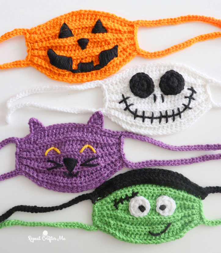 How to Make Crocheted Halloween Face Masks