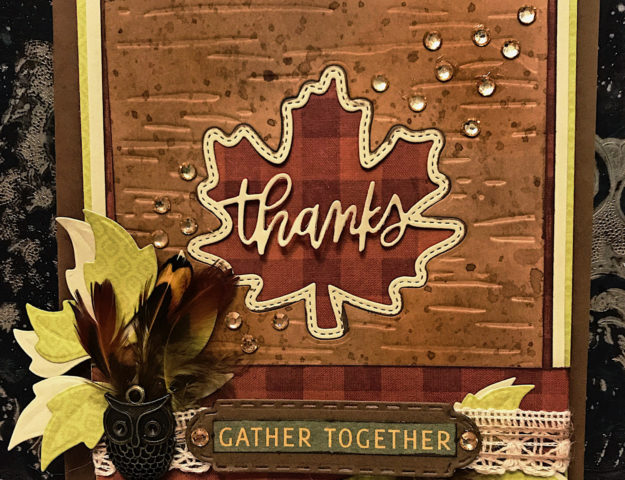 Gather Together rustic chic Thanksgiving fall card