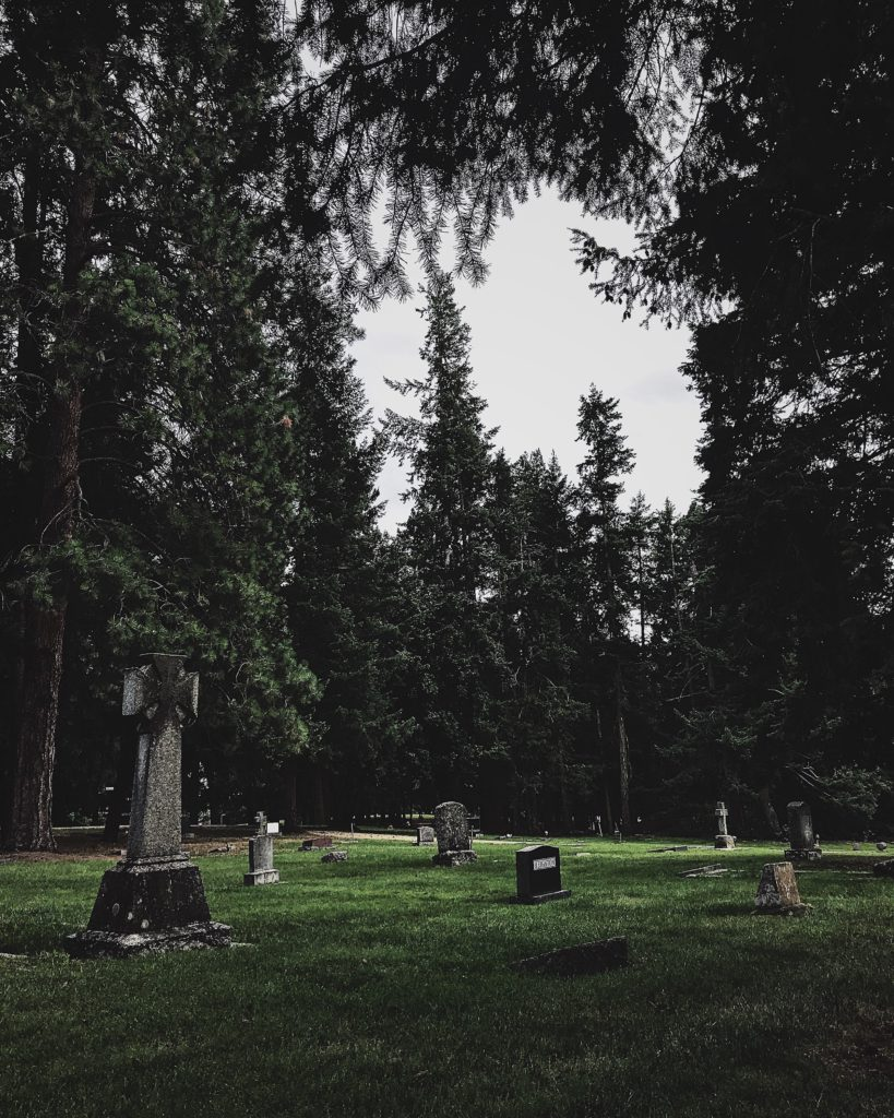 The Armstrong Spallumcheen Cemetery in Armstrong, British Columbia.
