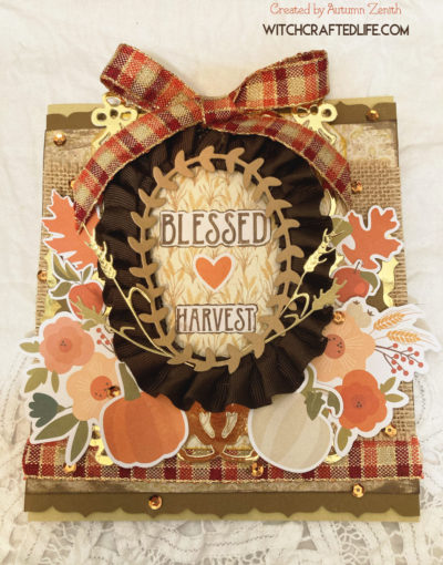 Blessed Harvest Mabon Thanksgiving Card