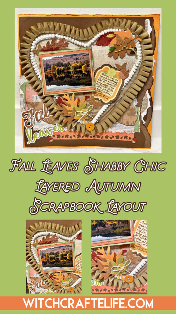 Fall Leaves Shabby Chic Autumn Scrapbook Layout