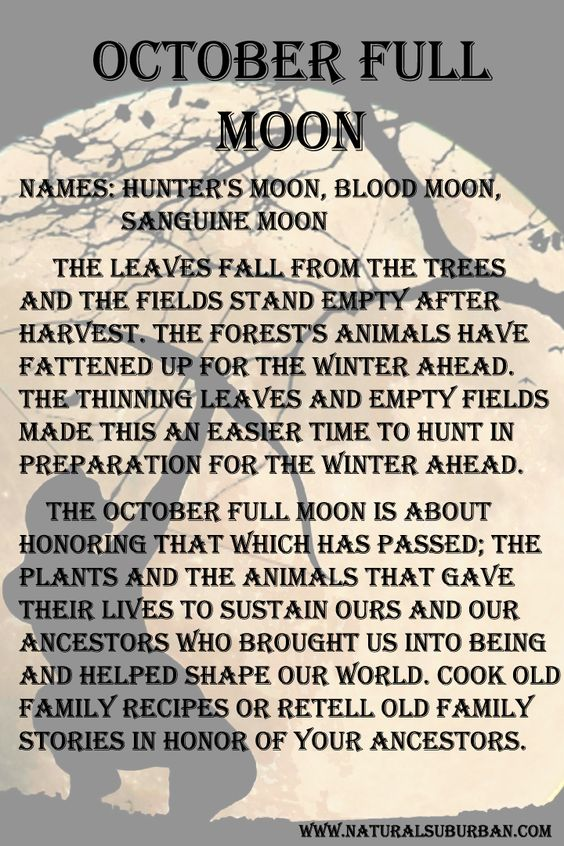 Halloween and Samhain 2020 October Hunter Moon meaning and significance.