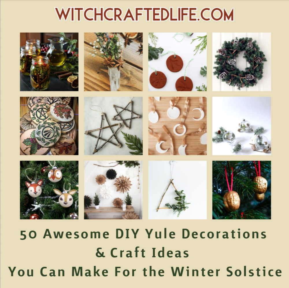 50 Awesome DIY Yule Decorations and Craft Ideas You Can Make for the Winter Solstice