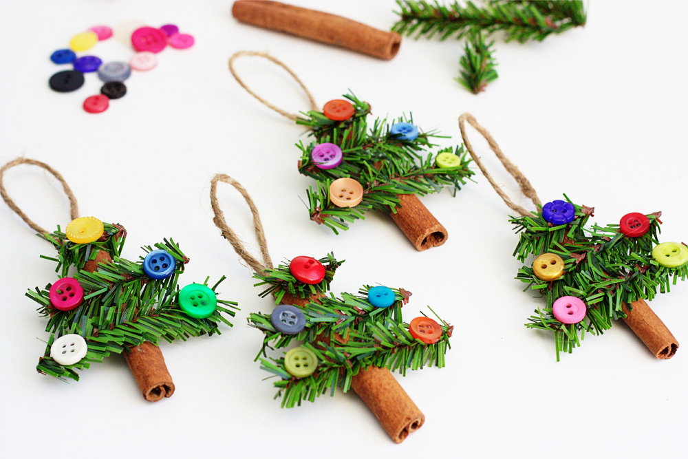 Cinnamon Stick Tree Ornaments | 50 Awesome DIY Yule Decorations and Craft Ideas You Can Make for the Winter Solstice