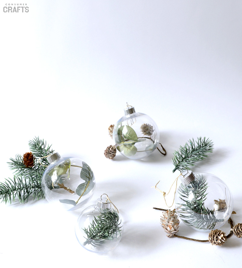 Simple Greenery Filled Ornaments | 50 Awesome DIY Yule Decorations and Craft Ideas You Can Make for the Winter Solstice