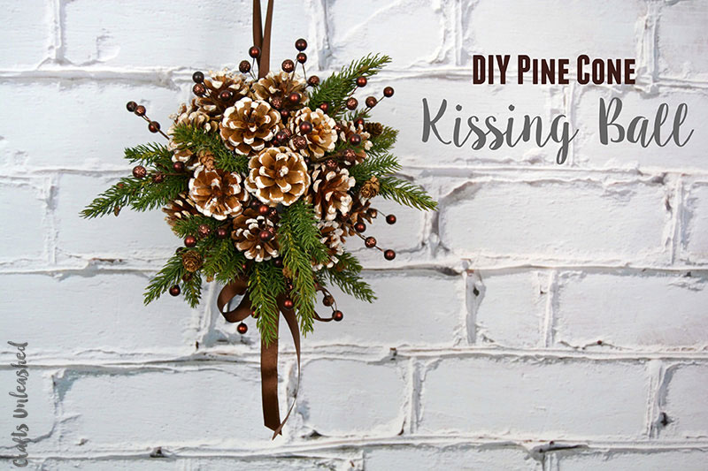 DIY Pinecone Kissing Ball | 50 Awesome DIY Yule Decorations and Craft Ideas You Can Make for the Winter Solstice
