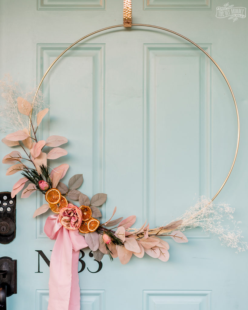 Gorgeous DIY Romantic Fall Boho Wreath created by The DIY Mommy