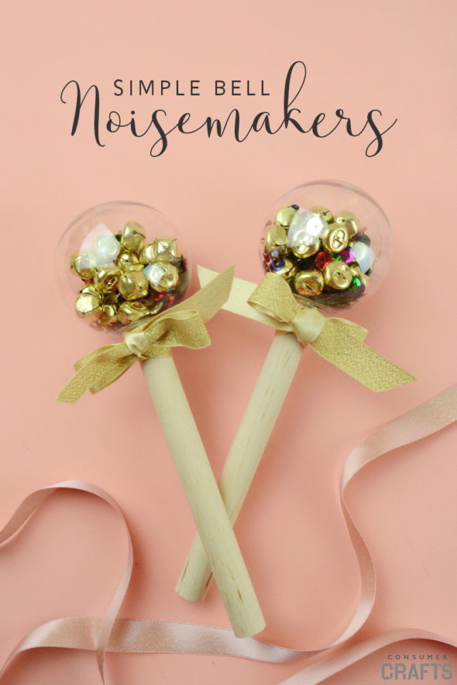 Simple Bell Noisemakers for New Year's Eve | 50 Awesome DIY Yule Decorations and Craft Ideas You Can Make for the Winter Solstice