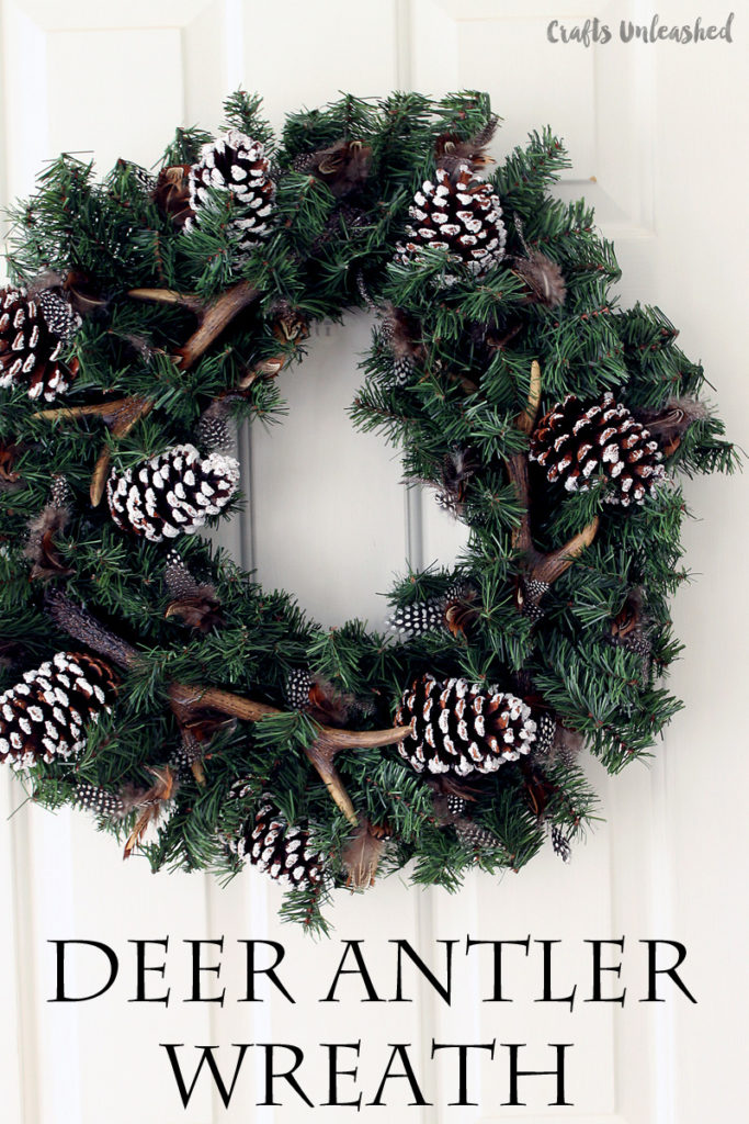 DIY Faux Deer Antler Winter Wreath | 50 Awesome DIY Yule Decorations and Craft Ideas You Can Make for the Winter Solstice