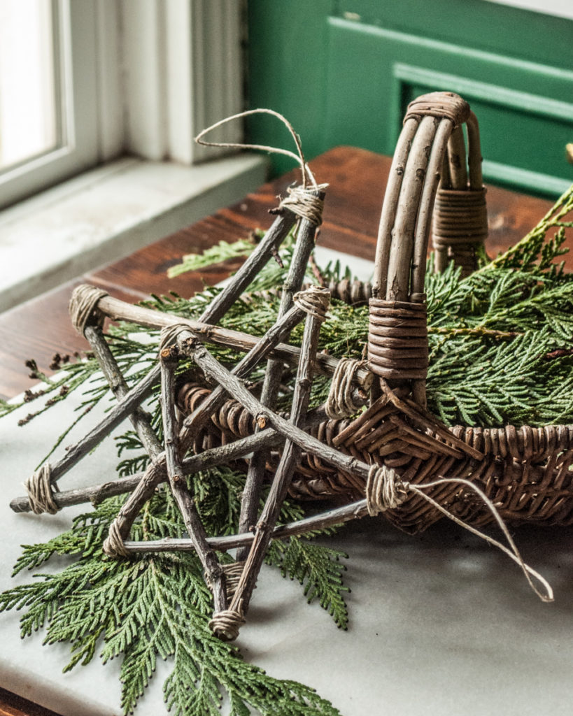 Rustic Twig Star Ornaments:  | 50 Awesome DIY Yule Decorations and Craft Ideas You Can Make for the Winter Solstice