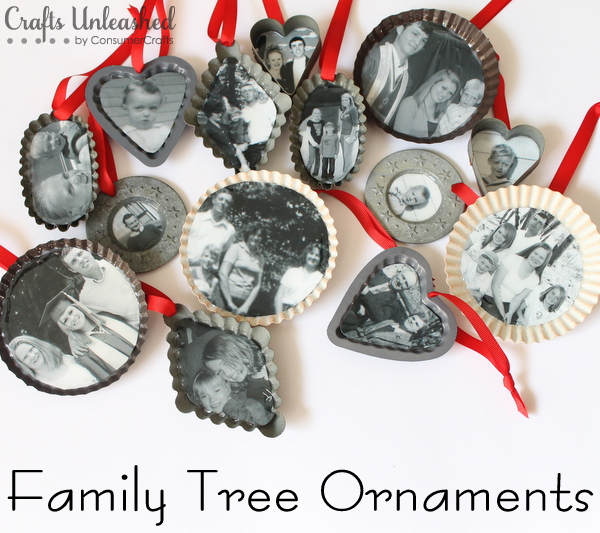 Handmade Family Tree Ornaments | 50 Awesome DIY Yule Decorations and Craft Ideas You Can Make for the Winter Solstice