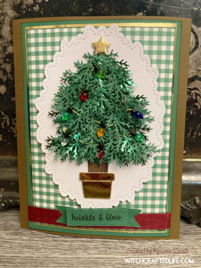 Twinkle and Shine Christmas Tree with Lights Card
