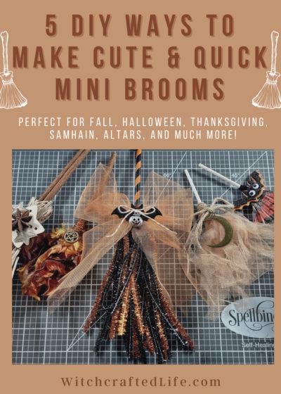 How to Make DIY Mini Halloween Brooms
