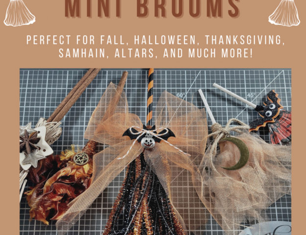 How to Make DIY Mini Halloween Brooms