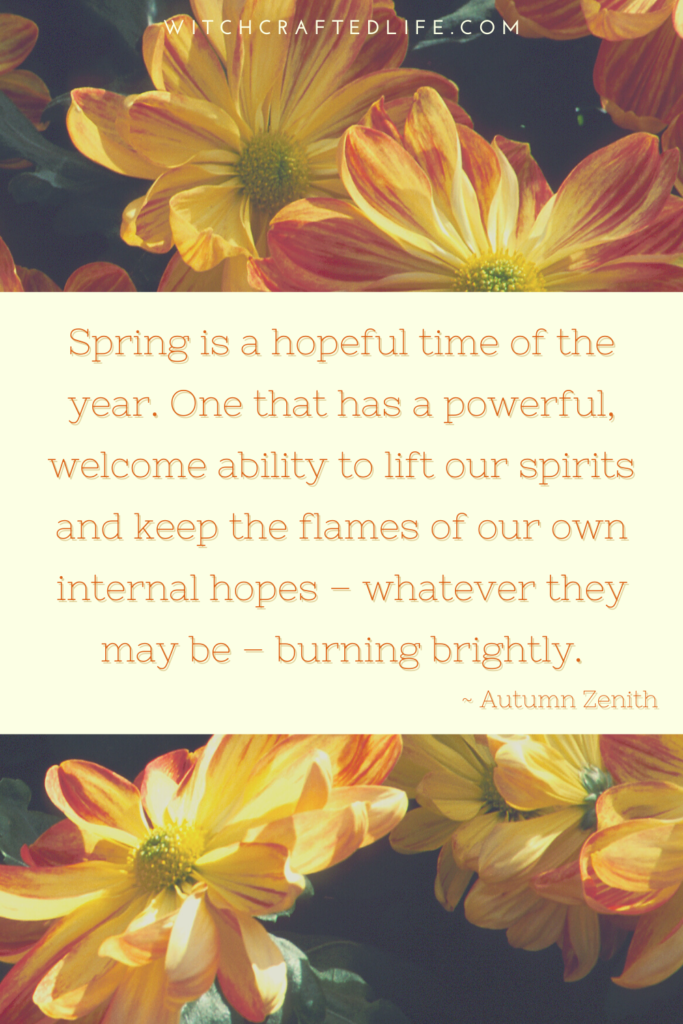 Spring is a hopeful time of the year quote from Autumn Zenith