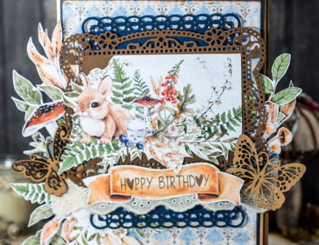 Adorable Woodland Themed Happy Birthday Lots of Layers and Fussy Cutting