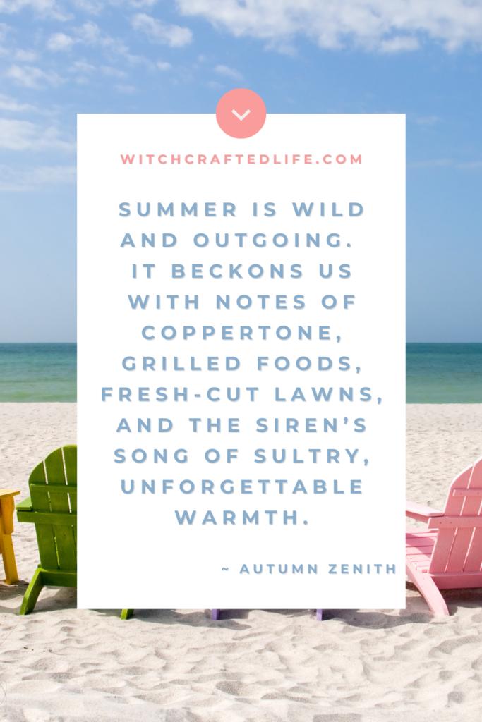Summer quote_Summer is wild by Autumn Zenith